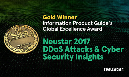 Neustar DDoS and Cyber Security Report Wins InfoSec Award for Research Report