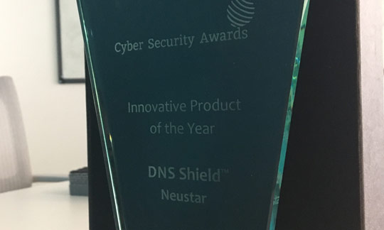 Neustar DNS Shield Wins Innovative Product of the Year at the Cyber Security Awards!